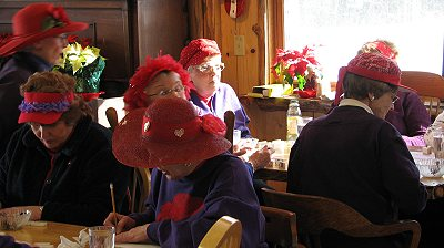 red hat ladies land o lakes wisconsin forest lake country store